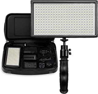 Polaroid Dimmable 312 LED Camera/Video Hand Grip Light w/ Variable Color Temperature, 2+ Hour Run Time