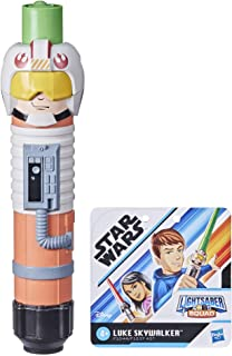 Star Wars Lightsaber Squad Luke Skywalker Extendable Green Lightsaber Roleplay Toy for Kids Ages 4 and Up