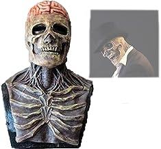 The Latest Skeleton Biochemical Mask for 2021, Full-Head Skull Mask Horrible Skeleton Bioman, Halloween Masks for Adults (...