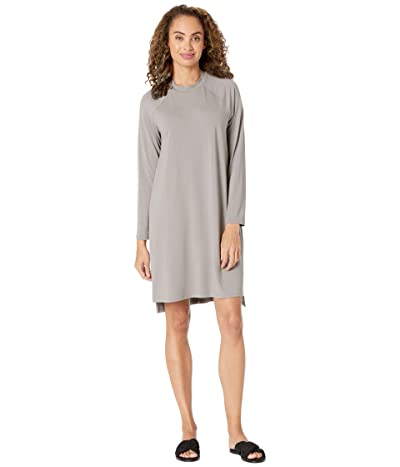 Eileen Fisher Crew Neck Dress (Smoke) Women