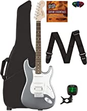 Best Fender Squier Affinity Stratocaster HSS - Slick Silver Bundle with Gig Bag, Tuner, Strap, Picks, and Austin Bazaar Instructional DVD Review