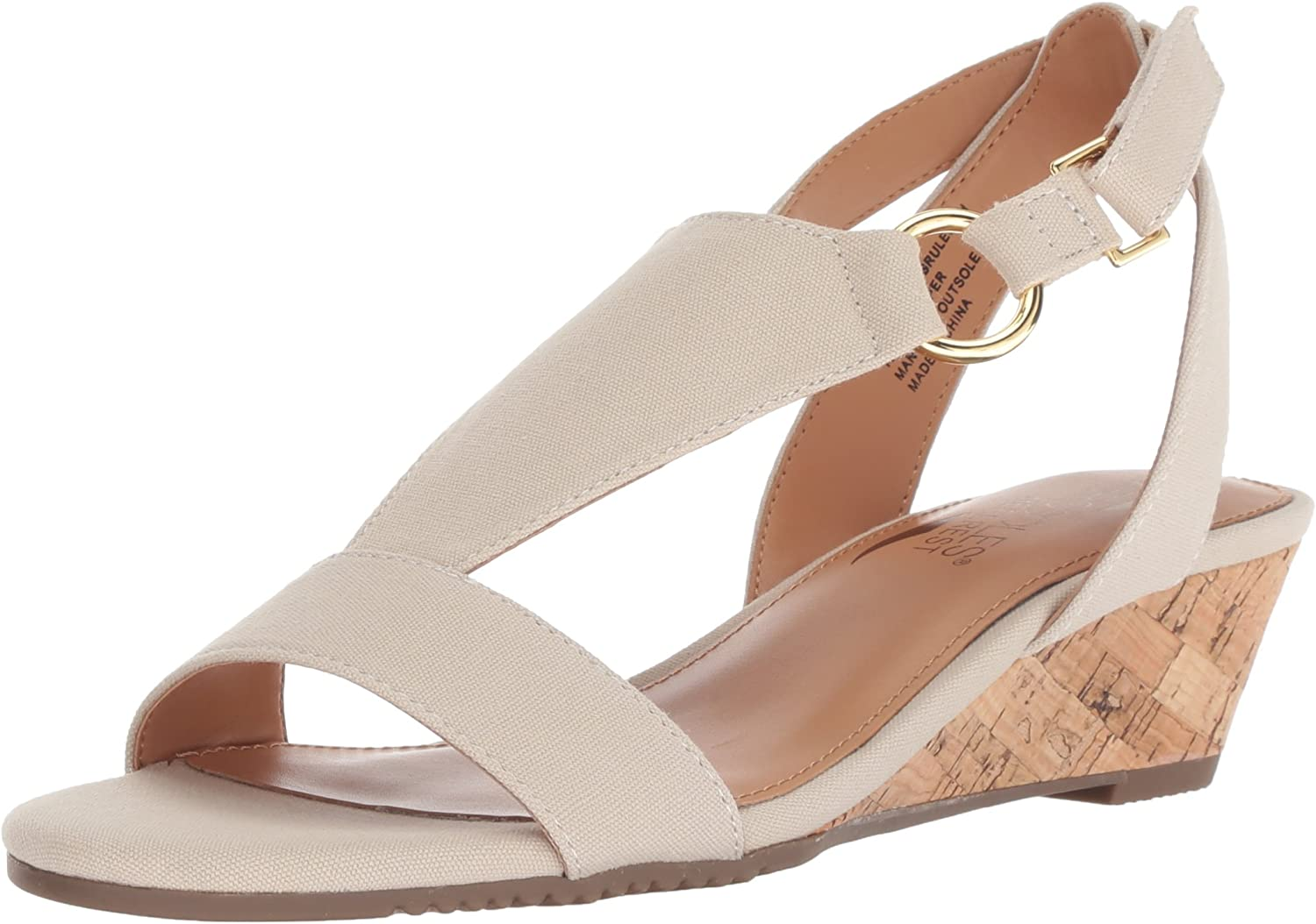 Aerosoles Womens Creme Brulee Wedge Sandal