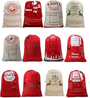 Christmas Sacks Santa Stocking Gift Sack Express Delivery Present/Gift/Storage Bag From North Pole Red Drawstring Gift Bag Large Size-20
