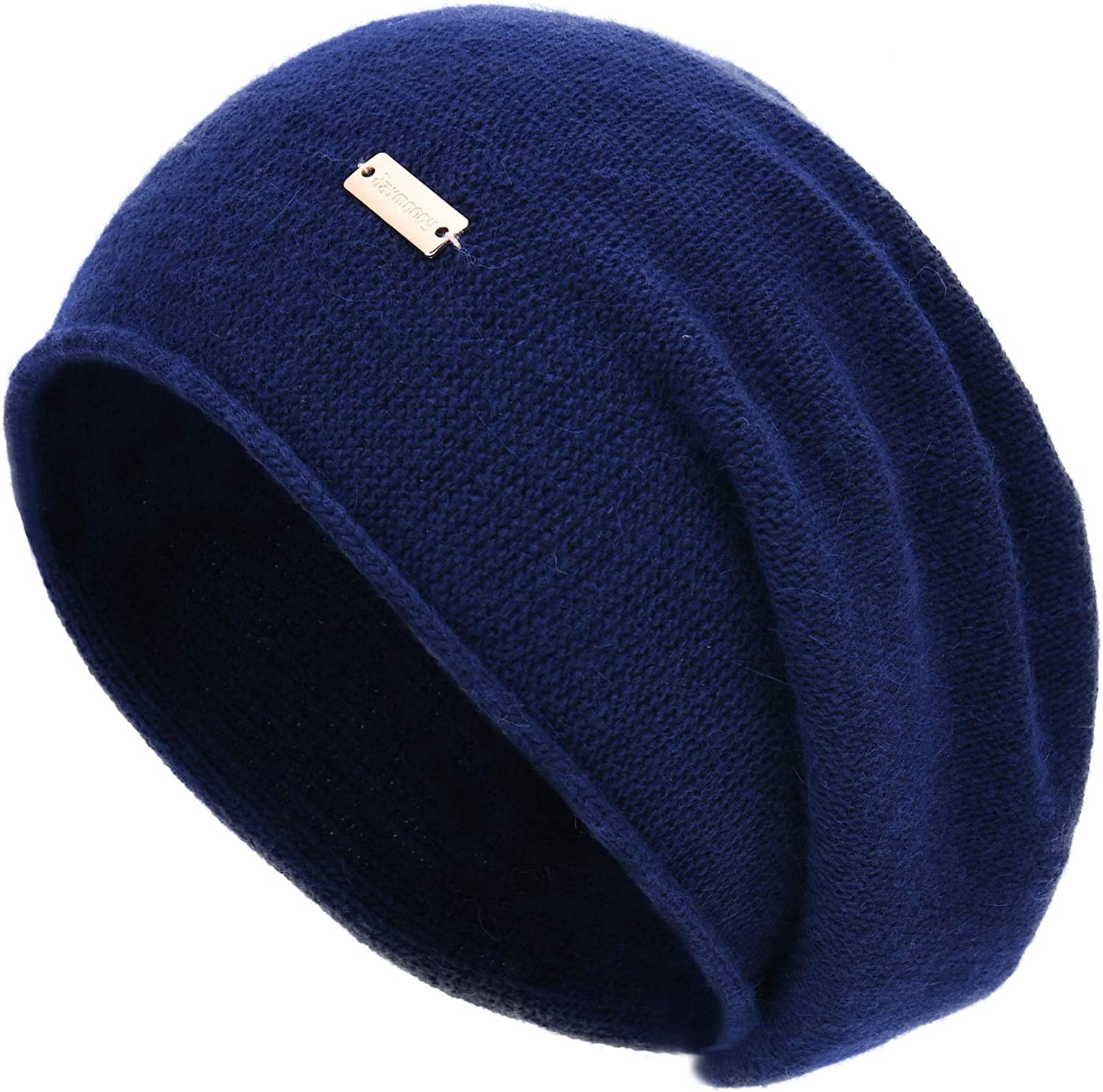 jaxmonoy Cashmere Slouchy Knit Beanie Hat for Women Winter Soft Warm Ladies Wool Knitted Skull Beanies Cap
