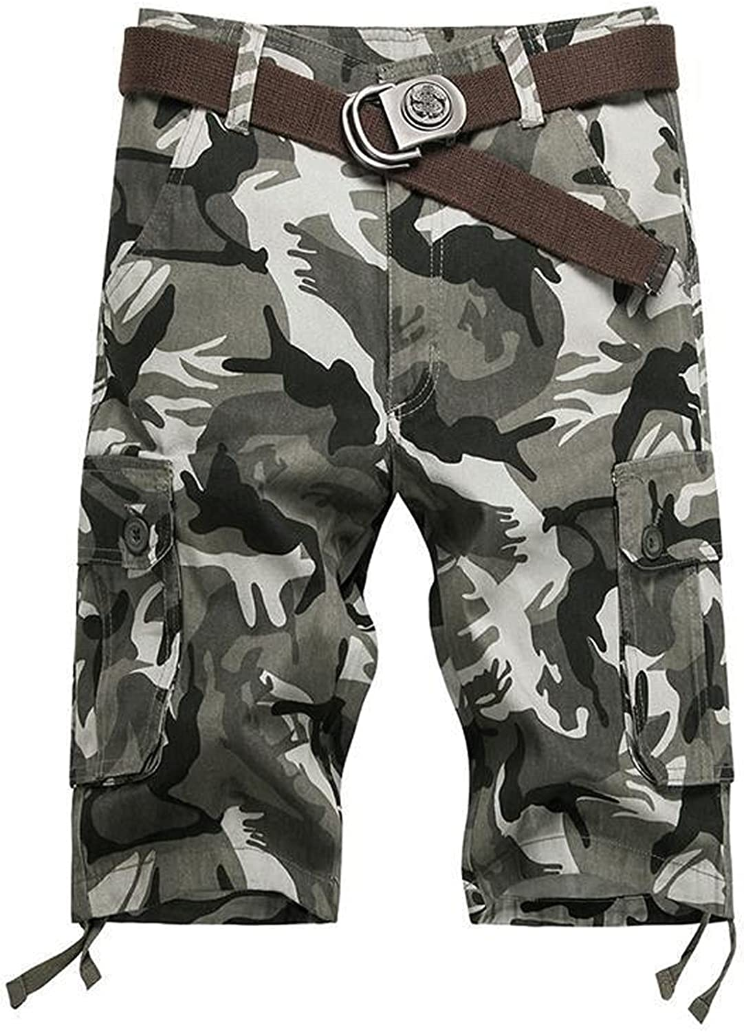 ZCAITIANYA Men's Outdoor Cargo Shorts Casual Camouflage Workout Hiking Relaxed Fit Stretch Summer Wear with Zipper Pockets
