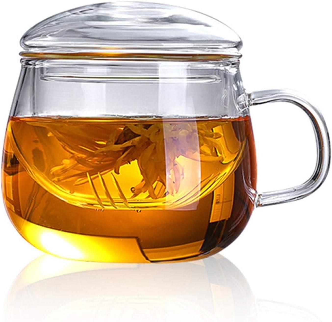 Youdert 13.5oz Handmade Heat-resistant Glass Milk Coffee 55% Detroit Mall OFF Cup Cu