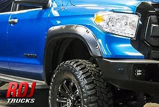RDJ Trucks PRO-Offroad Bolt-On Style Fender Flares - Fits Toyota Tundra 2014-2020 - Set of 4 - Smooth Paintable OE Black Finish