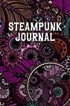 Steampunk Journal: Fantasy College Ruled Composition Diary | Blank Grimoire Lined Notebook | Vintage Victorian Abstract Pi...