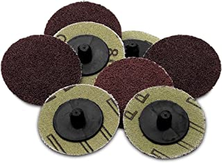 Katzco 50 Pieces – 2 inch 80 Grit Roll Lock Sanding and Grinding Discs – 50..