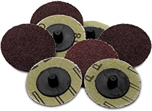 Katzco 50 Pieces - 2 inch 80 Grit Roll Lock Sanding and Grinding Discs - 50 Pieces - for use with Drill or Die Grinder - for any Surface Prep or Finishing Job