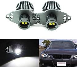 iJDMTOY LED Angel Eye Marker Bulbs For 06-08 BMW E90 3 Series HID Xenon Headlights & 09-12 BMW 3 Series LCI Standard Halogen Headlights, Powered by 20W Xenon White High Power CREE LED Light