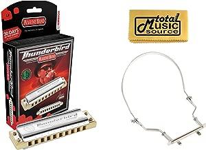HOHNER Marine Band THUNDERBIRD Harmonica w/ Case, Key LOW F, Germany, Case & Harmonica Holder, M2011L-F PACK