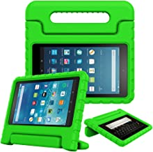 Fintie Case for All-New Fire HD 8 Tablet (7th and 8th Generation Tablets, 2017 and 2018 Releases) - [Kids Friendly] Shock Proof Light Weight Convertible Handle Stand Protective Cover, Green
