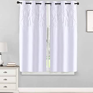Sweet Home Collection 2 Piece Pinch Pleat Pintuck Design Window Curtain Panel Set, 63