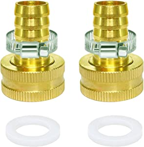 AOPANDA Garden Hose Adapder, 3/4'' to 1/2'' ID Hose Adapter, Convert 3/4