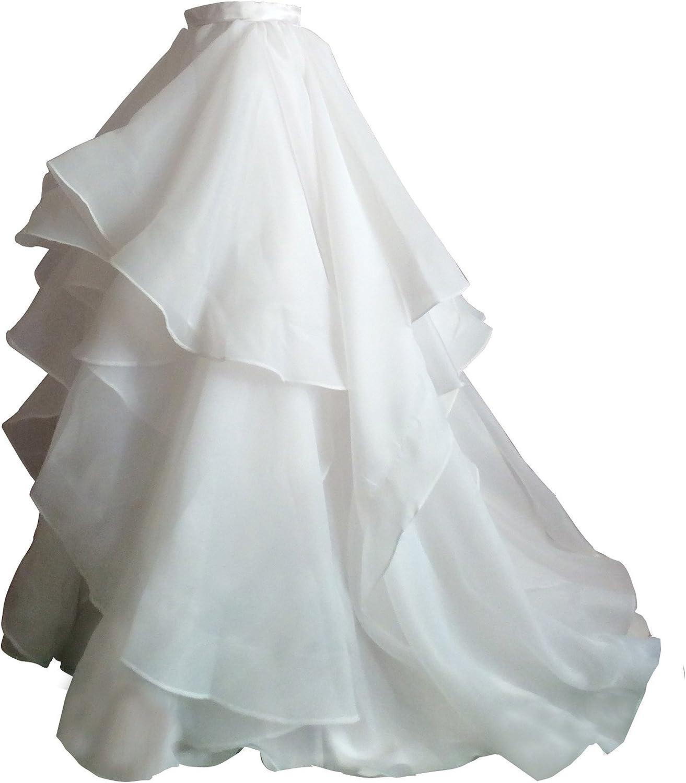 Flowerry Women Organza Bridesmaid Skirt Women Formal Skirt Prom Wedding Party Skirt