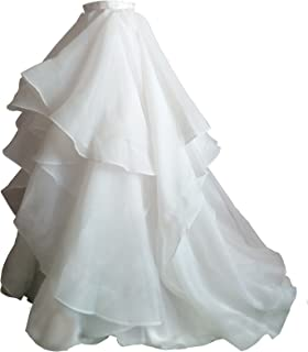 Women Maxi Bridal Skirt Wedding Skirt With Train Party Prom Skirt