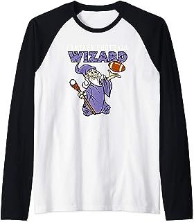Funny Fantasy Football Wizard Party League Champion Raglan Baseball Tee