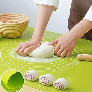 huanniu Tapis de pâtisserie épais en Silicone de Grande Taille 65 cm * 45 cm avec règle de pâtisserie, Tapis de pâte antia...