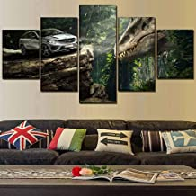 Paintings on the walls on the canvas home decor 5 board movie dinosaur and car poster modern artwork decoration frame