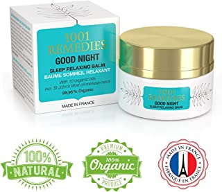 1001 Remedies Good Night Sleep Aid Cream – Sleepy Lotion for Better Sleep – Natural & Organic Stress Relief Balm with 12 Essential Oils incl. Lavender, St Johns Wort, Neroli