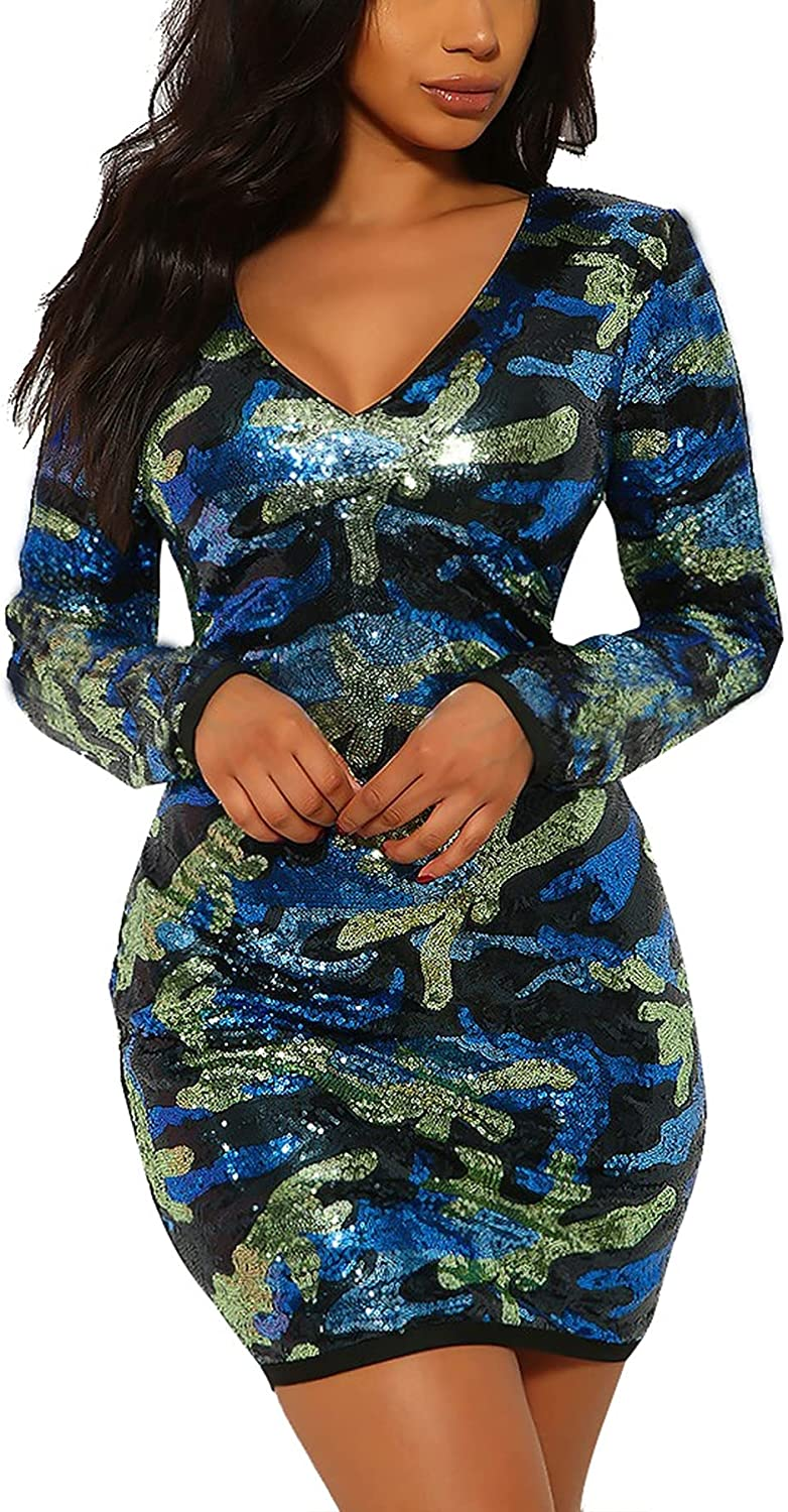 LKOUS Virginia Beach Mall Women Genuine Free Shipping Club Night Out and Sexy V Dresses Neck Cocktail L