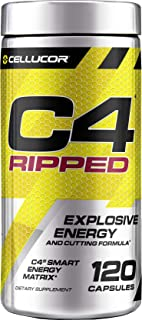 C4 Ripped Pre Workout Capsules | Creatine Free + Sugar Free Preworkout Energy Supplement for Men & Women | 150mg Caffeine ...