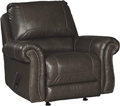 Signature Design by Ashley - Lawthorn Traditional Rocker Recliner - Slate