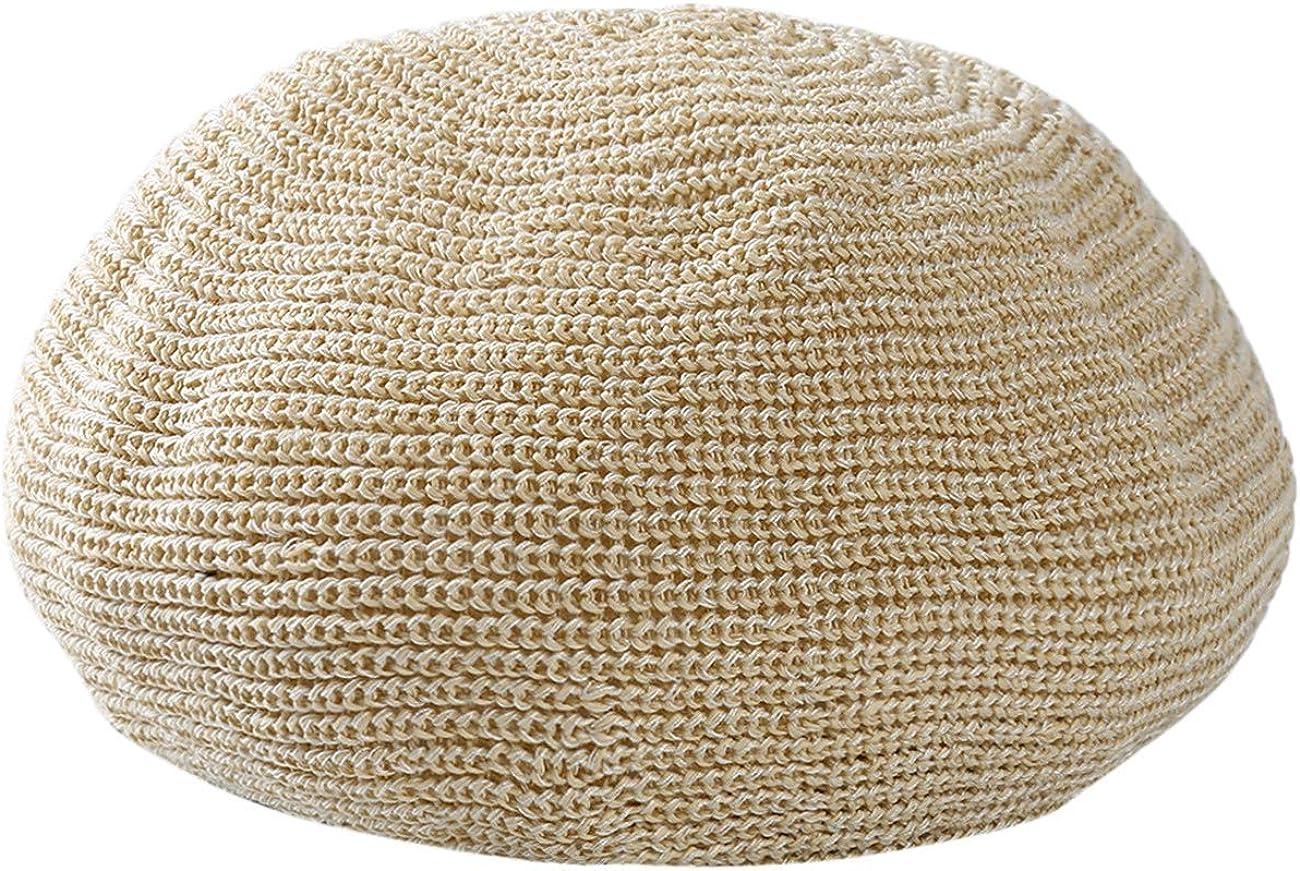 ZALING Solid Color Spring Summer Women Knit Berets Ladies Flat Cap Crochet French Caps Artist Painter Hat