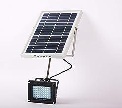 ضوء ابيض ام 2 ليد خارجي يعمل بالواح طاقة شمسية استطاعة 6 واط لمدة 12 ساعة