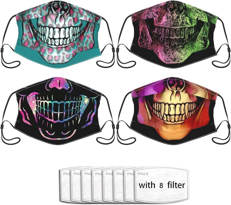 Max Free shipping 50% OFF 4pcs Fashion Face Mask With Bandanas Bala Washable 8filters