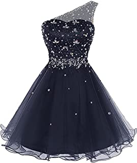 Juniors Aline One Prom Dress 2018 Short Tulle Party Dress Mini