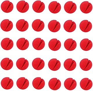 """TinaWood 30PCS 2""""x2"""" Red Circus Clown Nose Halloween Christmas Costume Party"""