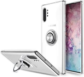 Lenuo Samsung Galaxy Note 10 Plus Case, Flexible TPU Ring Holder Magnetic, clear