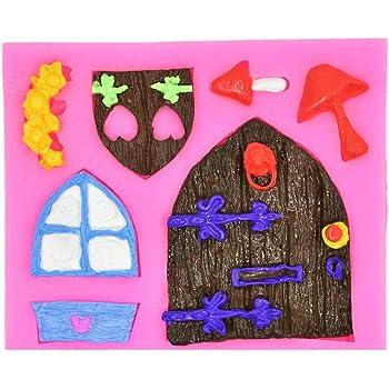 Sugarcraft Door Silicone Mold Fondant Cake Decorating Tools Chocolate Gumpaste