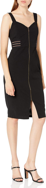 A. Byer Women's Zipper Front Bodycon Dress