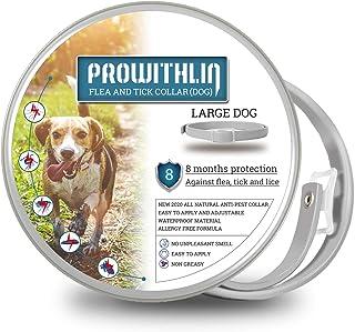 comprar comparacion prowithlin Collar Antiparasitario para Perros, 62cm Natural Collar Anti-pulgas Ajustable 8 Meses de Prevención Talla Unica...