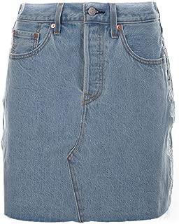 Levi's Luxury Fashion Womens 778820007 Light Blue Skirt | Season Outlet