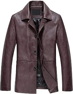 High Grade Leather Jacket Motorcycle Clothing Leather Jacket Coat Windproof