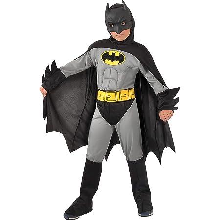Ciao - Déguisement Batman Classic DC Comics pour enfant (Taille 3-4 ans) avec muscles pectoraux rembourrés, couleur gris/noir, 11701.3-4