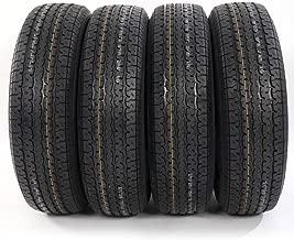 Set of 4 Load Radial Trailer Tires ST225/75R15 8PR/Load Range D 2257515