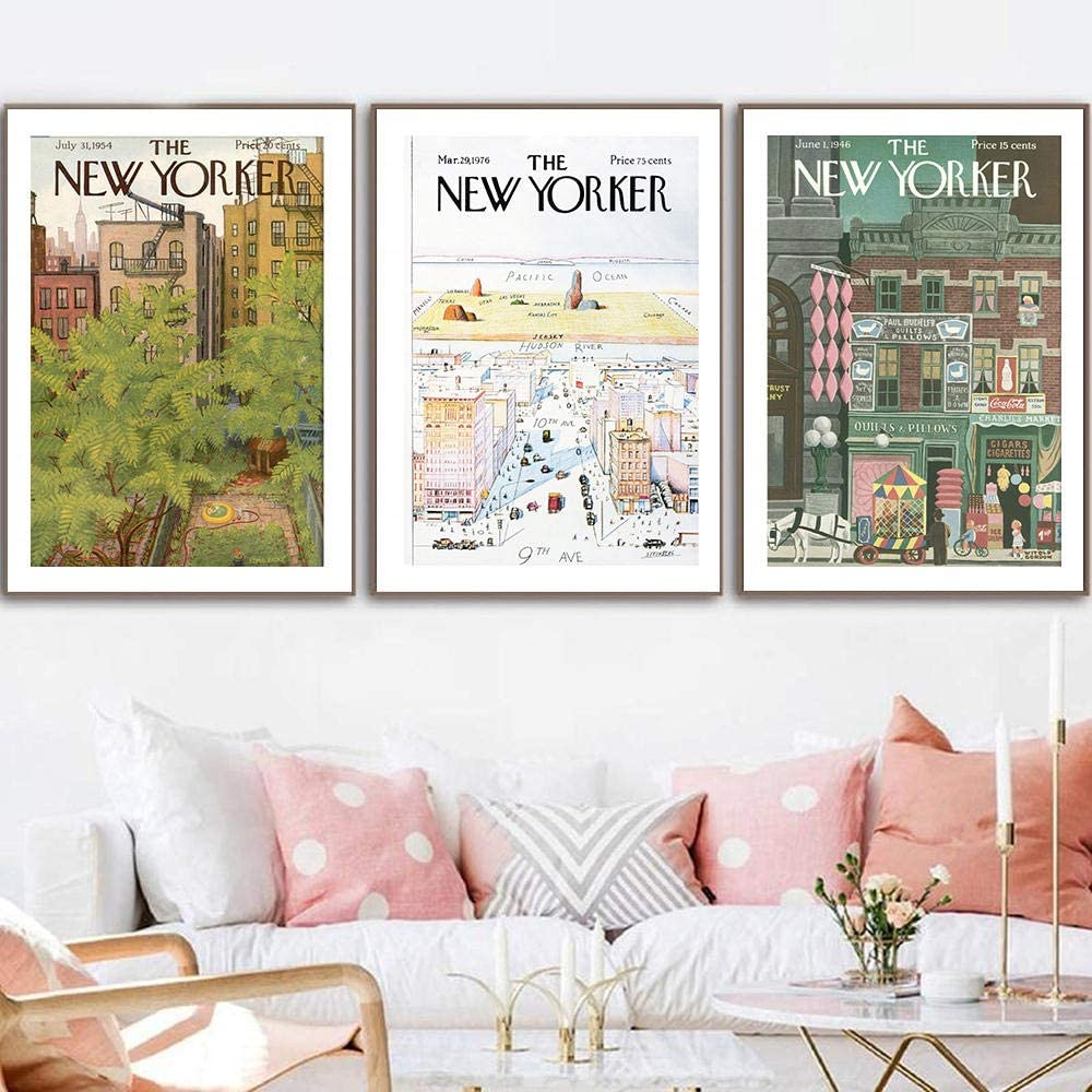 BFDSTY New Yorker Magazine Cover Poster SALENEW very popular Abstract Prints and Max 63% OFF Vint