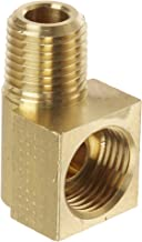 Eaton Weatherhead 402X6 Brass CA360 Inverted Flare Brass Fitting, 90 Degree Elbow, 1/4