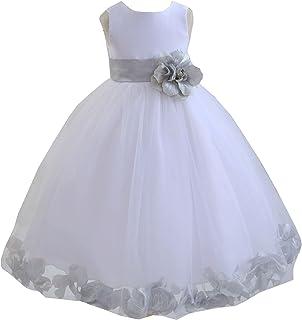 85177fd810 ekidsbridal White Floral Rose Petals Flower Girl Dress Birthday Girl Dress  Junior Flower Girl Dresses 302s