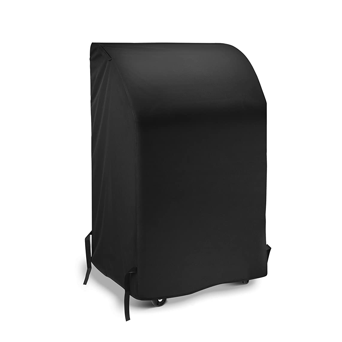 iDepot 2 Burner Gas Grill Cover 32 Inch, Heavy Duty Waterproof Small Space BBQ Cover for Grills with Collapsed Side Tables, All Weather Protection for Weber Char-Broil Nexgrill and More, Black