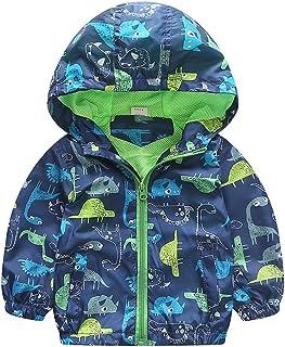 AiGo 子供 ウインドブレーカー ジャケット 長袖 男の子 女の子 メッション パーカー 薄手 コート キッズコート アウター フード付き 子供服 子供コート キッズ服 [並行輸入品]