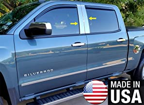 Made in USA! Works with 2014-2018 Chevy/GMC Silverado/Sierra Double/Crew Cab 4PC Pillar Post Trim