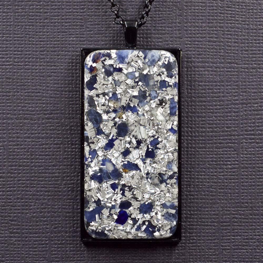 Sodalite and Aluminum Direct store Orgonite® O Pendant Necklace Houston Mall