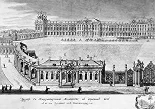Catherine Palace 1761 Nleft Panel Of A Panoramic Engraving Of The Catherine Palace The Summer Residence Of Russian Tsars In Tsarskoye Selo Near St Petersburg Russia Line Engraving 1761 Poster Print by