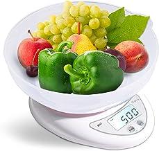 Balance de cuisine numérique avec bol amovible & fonction tare 5 kg Balance électronique Grand écran LCD Précision jusqu'à...
